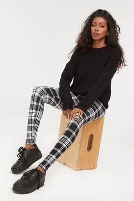 Ardene High Waist Plaid Leggings