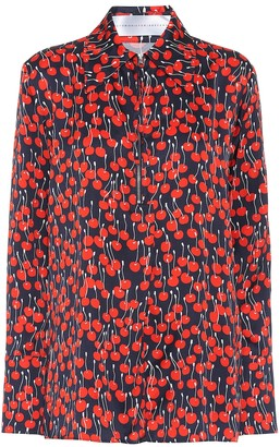 Victoria Victoria Beckham Cherry-print satin shirt