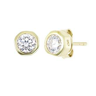 Cleo Roze Women Gold Stud Earrings CRE-1013-Y-ZI