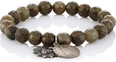 Miracle Icons Men's Beaded Charm Bracelet-DARK GREEN