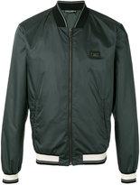 Dolce & Gabbana logo plaque bomber jacket - men - Polyester - 46