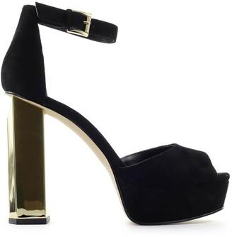 Michael Kors Petra Black Suede Platform Sandal