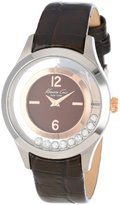 Kenneth Cole New York Women's KC2783 Transparency Brown and Rose Gold Floating Stone Dial Watch