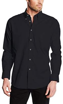 """Fruit of the Loom Men's Oxford Long Sleeve Shirt,18"""" Collar (Manufacturer Size:XX-Large)"""