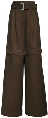 Max Mara Belted Cotton Twill Cargo Pants