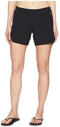 Hurley Phantom Beachrider Boardshorts 5 (Black) Women's Swimwear
