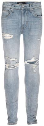 Hudson Zack Skinny Distressed Jeans