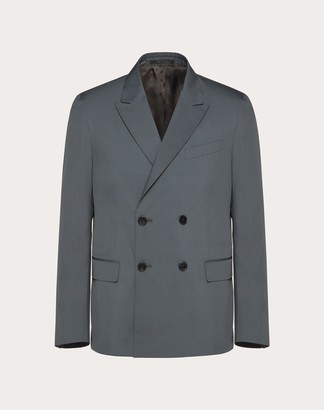 Valentino Double-breasted Sport Jacket Man Tornado Silk 21% 44