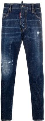DSQUARED2 glass-studded Skater jeans