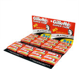 Gillette Super Thin Platinum Double Edge Razor Blades - 120 Pack
