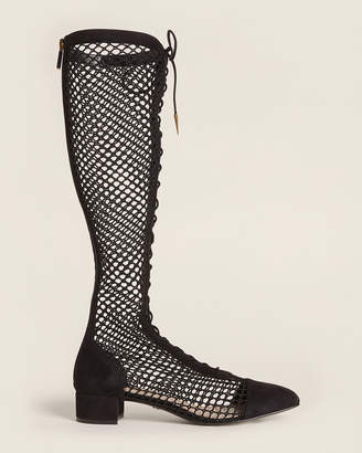Christian Dior Black Naughtily-D Knee-High Mesh Boots