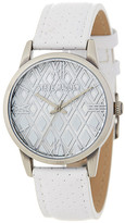 Steve Madden Women's Perforated Leather Strap Watch