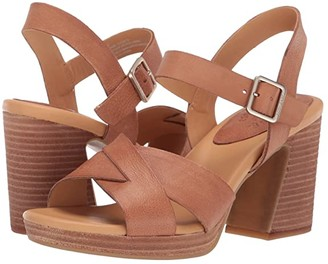 Kork-Ease Kristjana (Brown Full Grain Leather) Women's Dress Sandals