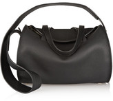 The Row Drum Textured-leather Shoulder Bag - Black