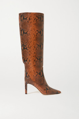 Jimmy Choo Mavis 85 Snake-print Leather Knee Boots - Snake print
