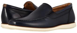 Florsheim Atlantic Moc Toe Venetian Slip-On (Black Smooth/Black Sole) Men's Shoes