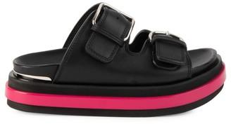 Alexander McQueen Leather Flatform Sandals