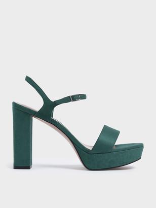 Charles & Keith Textured Chunky Platform Heels