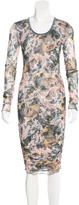 Elizabeth and James Mesh Abstract Print Dress
