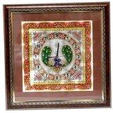 Radha Krishna Shop A Beautifull Marble Clock With Peacock Minakari Work