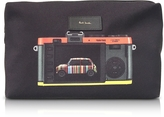 Paul Smith Black Canvas Leica Print Men's Wash Bag