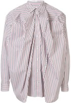 Y/Project ruched striped shirt