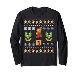 Nintendo Super Mario Piranha Ugly Christmas Long Sleeve Tee