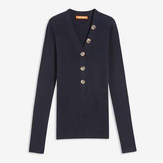 Joe Fresh Women's Ribbed Sweater, JF Midnight Blue (Size M)
