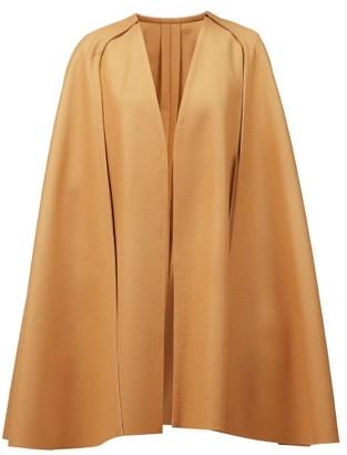 Carolina Herrera Double-faced Wool Cape - Camel