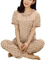 Splendid-Dream pajamas Splendid-Dream Women's Summer short sleeved Top pants pajamas suit (3XL, )