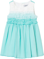 Mayoral Aqua Ombre Frill Front Crepe Dress
