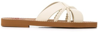 Chloé Crisscross Slide Sandals