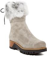 Manas Design Genuine Rabbit Fur Lined Shaft Boot