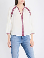 Closed Embroidered cotton blouse