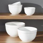 "Crate & Barrel Nesting Mixing Bowl Set 5-Piece, 5.5""-9.75"""