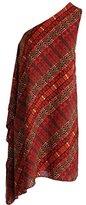 Vince Camuto Women's Maasai Tribal One Shoulder Drape Dress