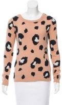 Torn By Ronny Kobo Leopard Pattern Angora Sweater