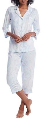 Lauren Ralph Lauren Paisley Knit Cropped Pajama Set