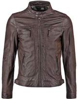 Oakwood Casey Leather Jacket Dark Brown