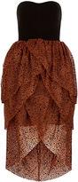 Isa Arfen Black Velvet Tulip Skirt Cocktail Dress