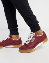 adidas continental 80 sneakers in burgundy with gum sole