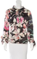 Just Cavalli Floral Print Long Sleeve Top