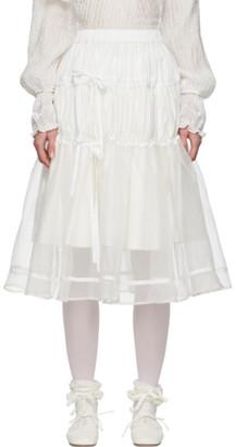 Renli Su White Tiered Skirt