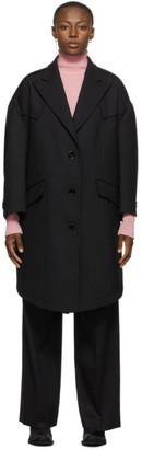 MM6 MAISON MARGIELA Black Wool Techno Coat