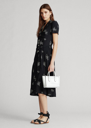 Ralph Lauren Rose-Print Midi Dress