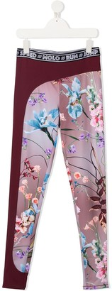 Molo TEEN floral-print logo-tape leggings