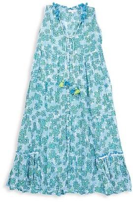 Poupette St Barth Little Girl's & Girl's Clara Long Sleeveless Dress
