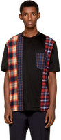 Lanvin Black Multi Check T-Shirt