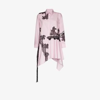 Marques Almeida Asymmetric Lace Shirt Dress