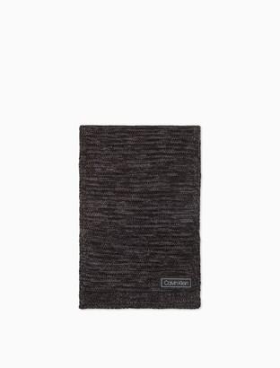 Marled Reverse Jersey Knit Scarf
